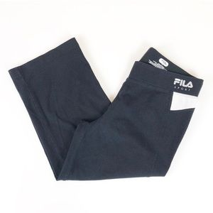 Fila Sport black workout activewear jogger capris